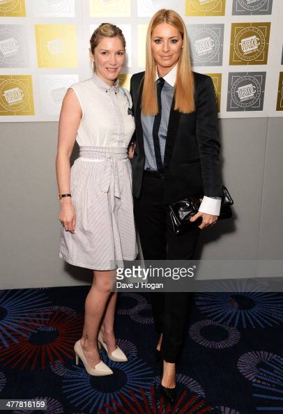 Lisa Faulkner and Tess Daly attend the TRIC awards 2014 at the Grosvenor House Hotel on March 11 2014 in London England
