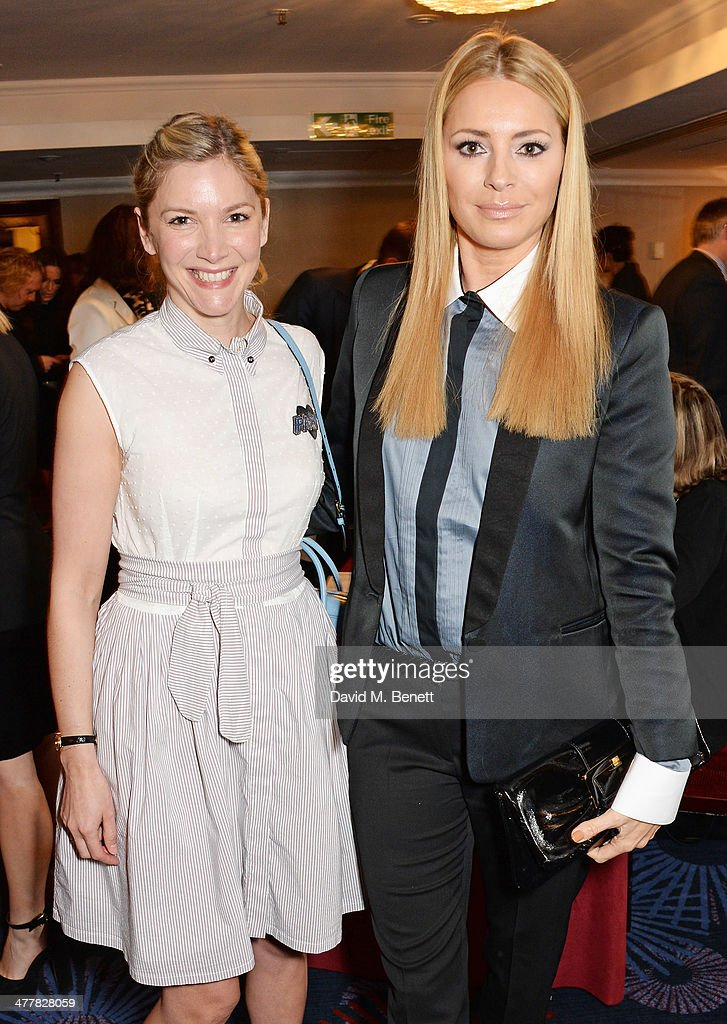 Lisa Faulkner and Tess Daly attend the TRIC Television and Radio Industries Club Awards at the Grosvenor House Hotel on March 11 2014 in London...