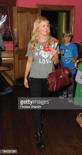 Lisa Faulkner attends a screening of 'Cloudy With A Chance Of Meatballs 2' at Soho Hotel on October 12 2013 in London England