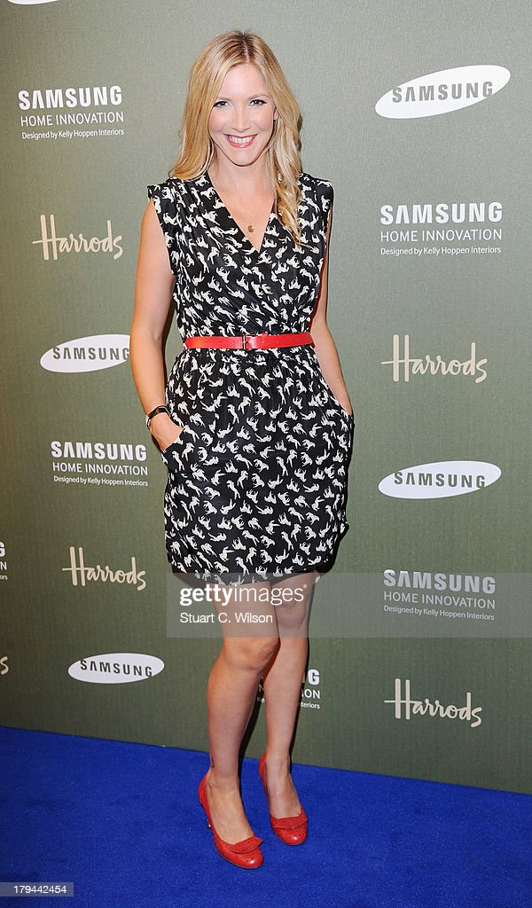 Lisa Faulkner attends the Samsung Home Innovation space designed by Kelly Hoppen at Harrods on September 3 2013 in London England