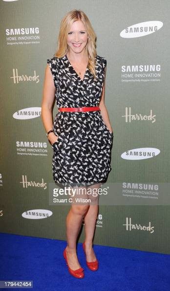 Lisa Faulkner attends the Samsung Home Innovation space designed by Kelly Hoppen at Harrods on September 3 2013 in London England