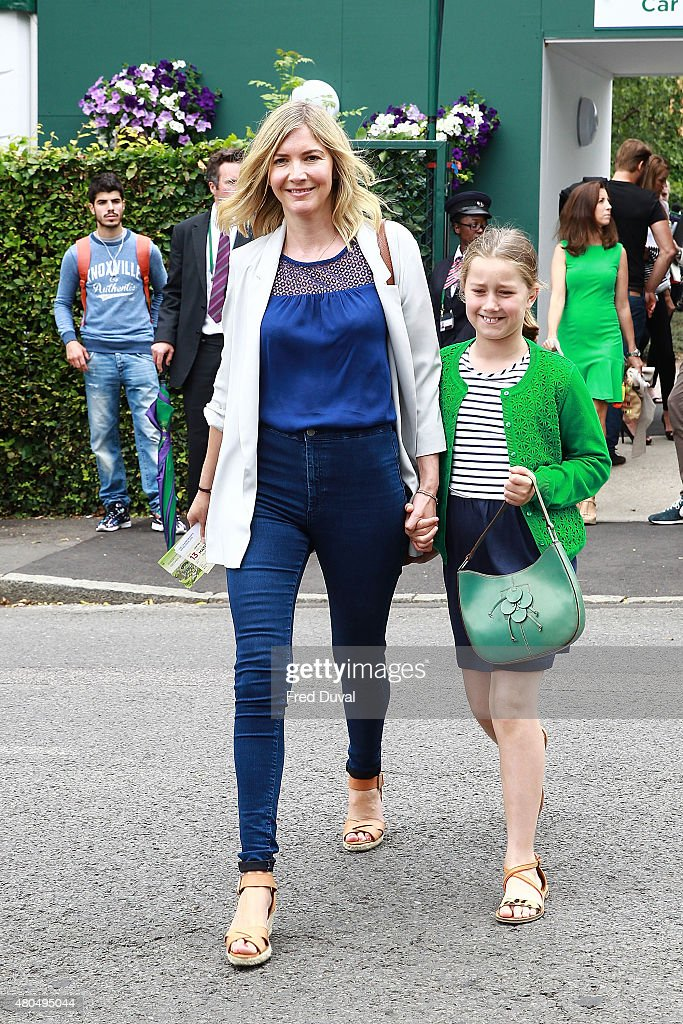 Lisa Faulkner seen arriving at Wimbedon on July 12 2015 in London England
