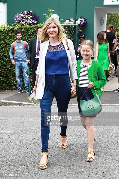 Lisa Faulkner seen arriving at Wimbedon on July 12 2015 in London England