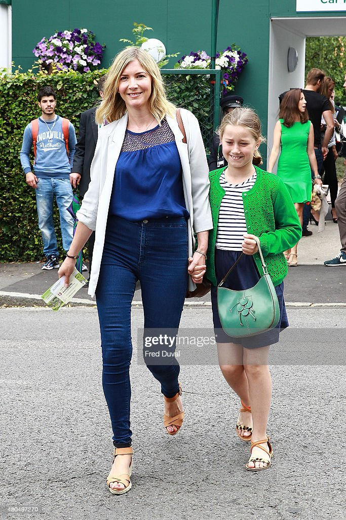 Lisa Faulkner seen arriving at Wimbledon on July 12 2015 in London England