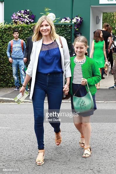 Lisa Faulkner seen arriving at Wimbledon on July 12 2015 in London England