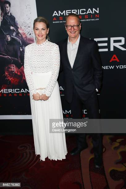 Lisa Flynn and screenwriter Stephen Schiff attend a Screening of CBS Films and Lionsgate's 'American Assassin' at TCL Chinese Theatre on September 12...