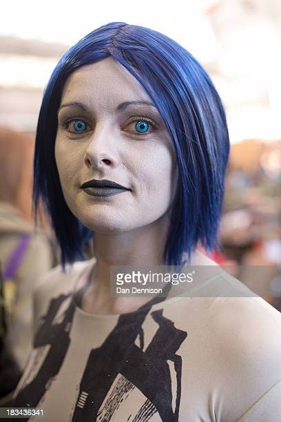 Lisa from Manchester attends the London Film And Comic Con as Cortana from the Halo videogame series at Olympia Exhibition Centre on October 6 2013...