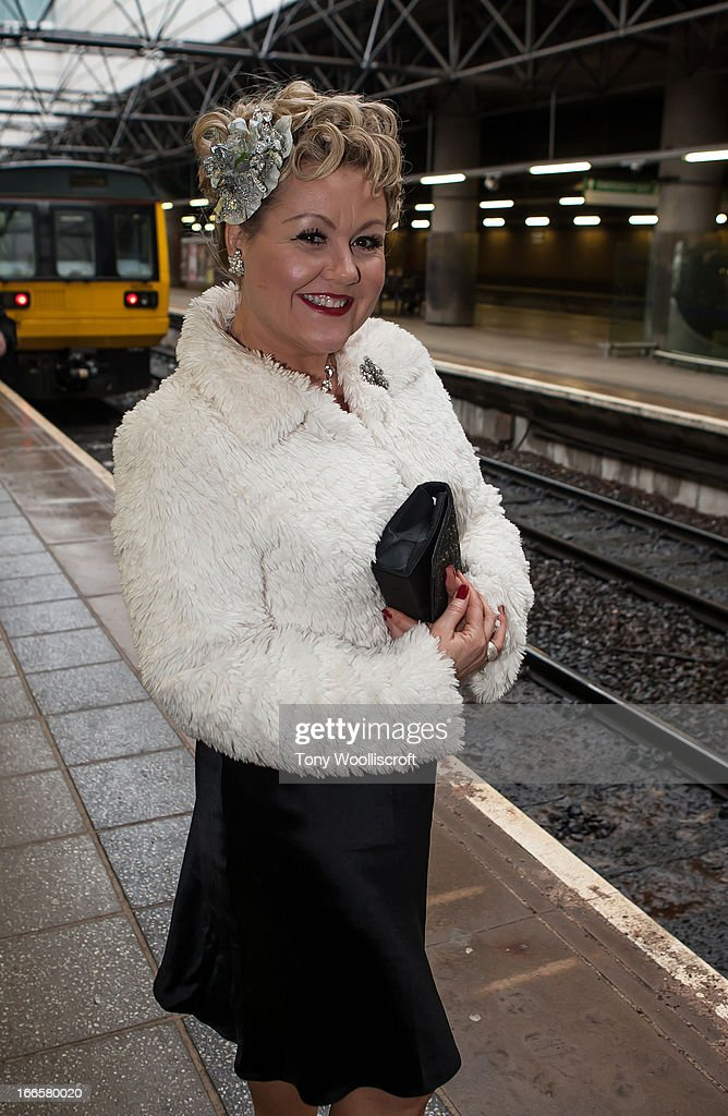 Lisa George attends as The northern Belle makes a fundraising trip in aid of the 'When You Wish Upon a Star' charity on April 13, 2013 in Manchester, England.
