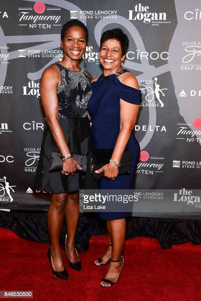 Lisa Greene and Stephany Boyette attend the Erving Golf Classic Black Tie Ball sponsored by Delta Airlines Pond LeHocky Law with cocktails presented...