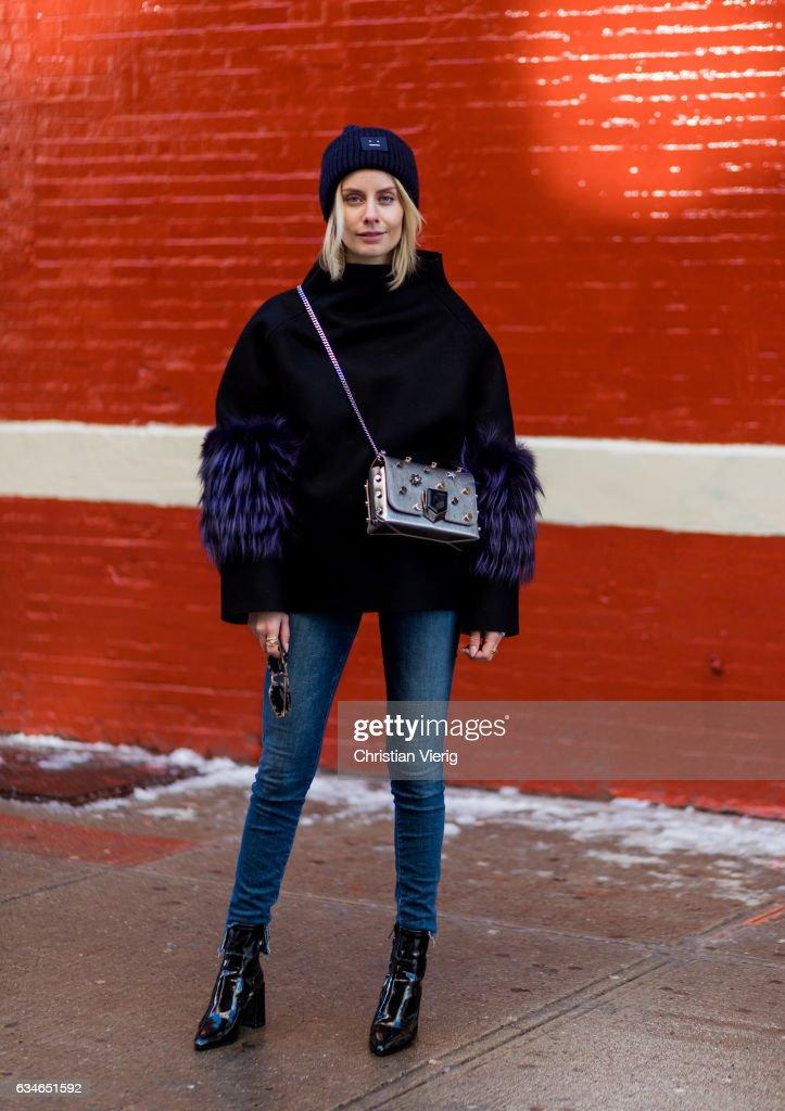 Street Style - New York Fashion Week February 2017 - Day 2