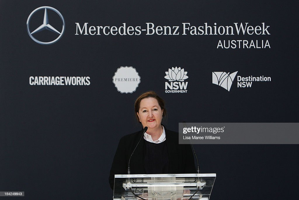 Lisa Havillah speaks during the Mercedes-Benz Fashion Week Australia 2013 Plan Launch at Carriageworks on October 17, 2012 in Sydney, Australia. IMG today announced Carriageworks as the new host venue of Mercedes-Benz Fashion Week Australia.
