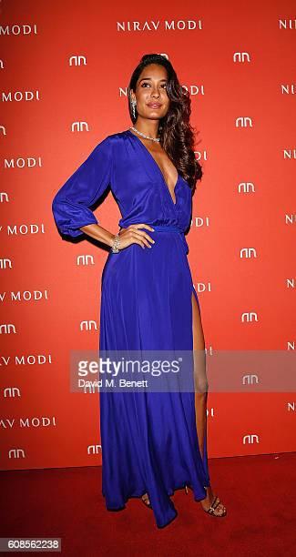 Lisa Haydon attends NIRAV MODI Old Bond Street boutique launch on September 19 2016 in London England