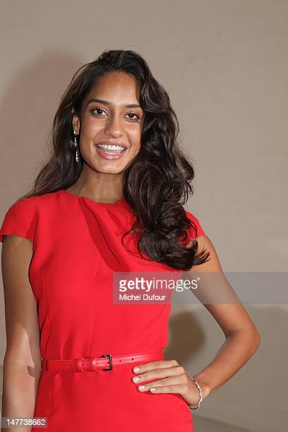 Lisa Haydon attends the Christian Dior HauteCouture Show as part of Paris Fashion Week Fall / Winter 2013 on July 2 2012 in Paris France