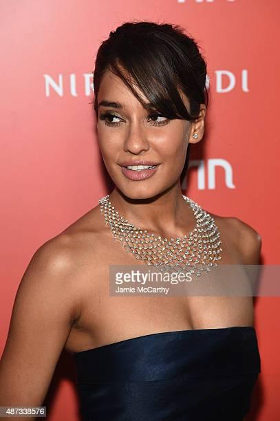 Lisa Haydon attends the Nirav Modi US Boutique grand opening at Nirav Modi Boutique on September 8 2015 in New York City