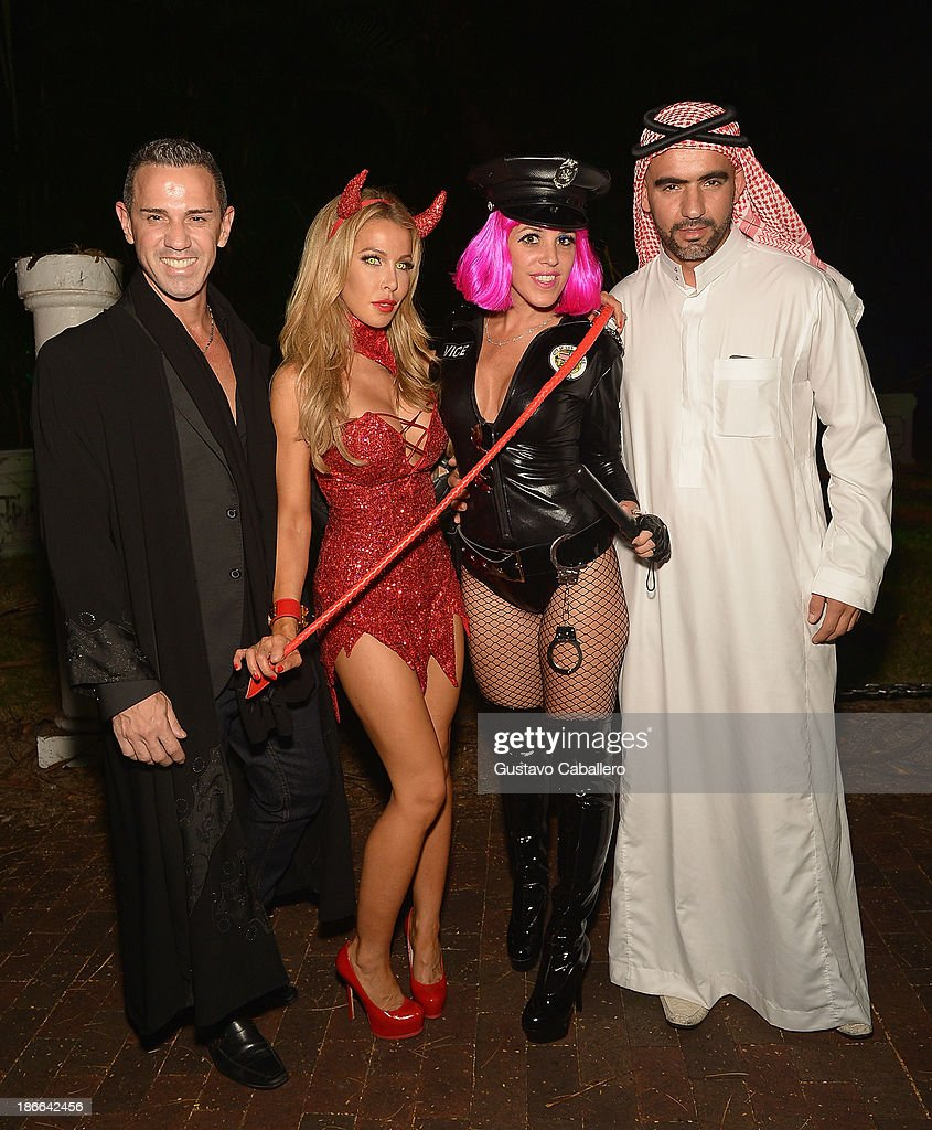 Lisa Hochstein and Cristy Rice attend Lisa Hochstein of 'Real Housewives of Miami' and Lenny Hochstein's Halloween Ball benefitting the Make-A-Wish Foundation on November 1, 2013 in Miami Beach, Florida.