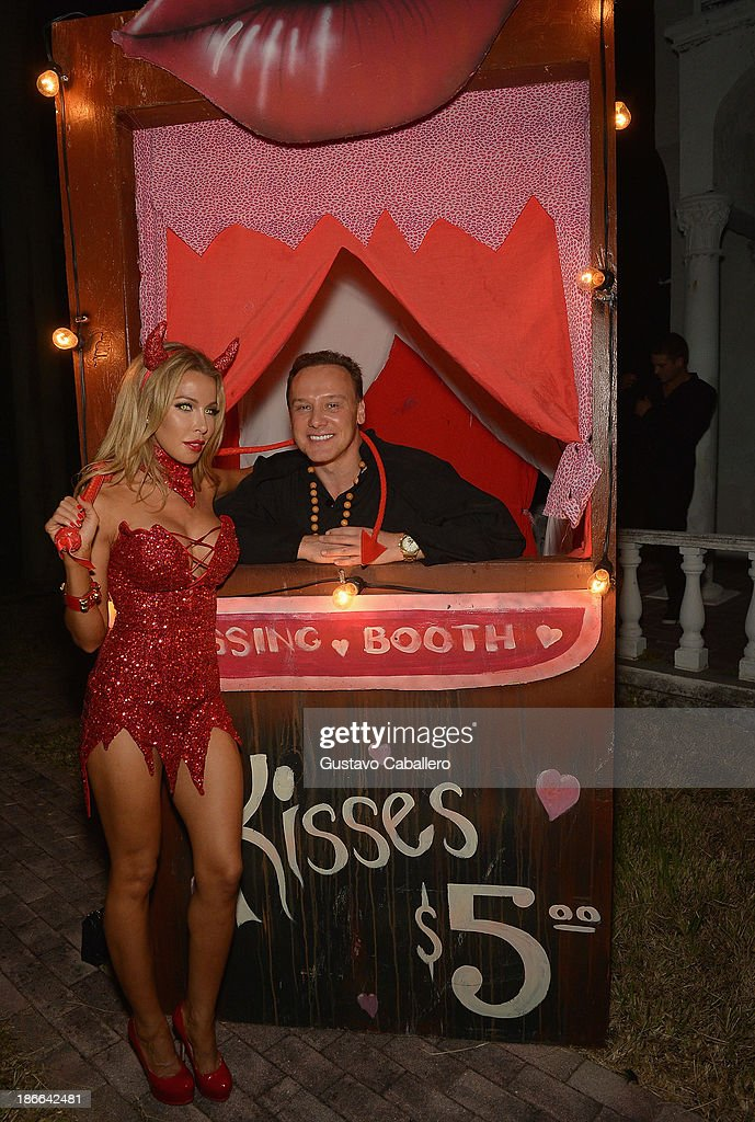 Lisa Hochstein and Lenny Hochstein attends Lisa Hochstein of 'Real Housewives of Miami' and Lenny Hochstein's Halloween Ball benefitting the Make-A-Wish Foundation on November 1, 2013 in Miami Beach, Florida.