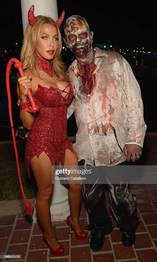 Lisa Hochstein attends Lisa Hochstein of 'Real Housewives of Miami' and Lenny Hochstein's Halloween Ball benefitting the Make-A-Wish Foundation on November 1, 2013 in Miami Beach, Florida.