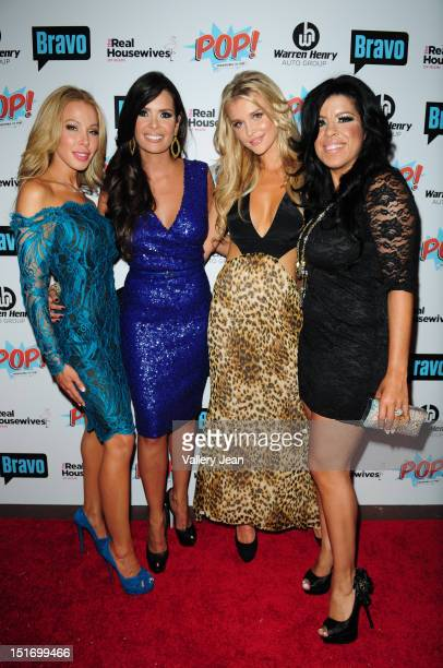 Lisa Hochstein Karent Sierra Lea Black and Joanna Krupa attend The Real Housewives of Miami Season 2 VIP Launch Party at The Forge Restaurant on...