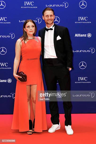 Lisa Hoewedes and Benedikt Hoewedes attend the Laureus World Sports Awards 2016 on April 18 2016 in Berlin Germany
