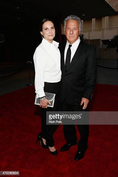 Lisa Hoffman and actor Dustin Hoffman attend the LACMA 50th Anniversary Gala sponsored by Christie's at LACMA on April 18 2015 in Los Angeles...