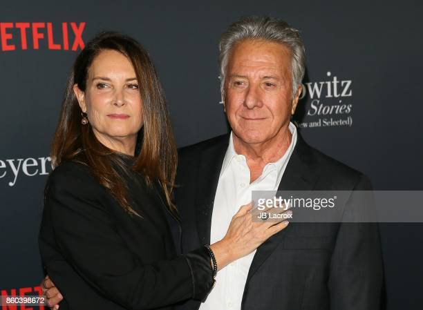 Lisa Hoffman and Dustin Hoffman attend a screening of Netflix's on October 11 2017 in Los Angeles California