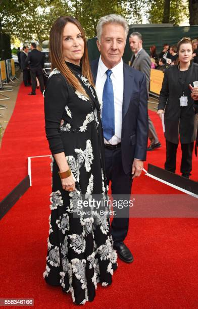Lisa Hoffman and Dustin Hoffman attend the Laugh Gala UK Premiere of 'The Meyerowitz Stories' during the 61st BFI London Film Festival at Embankment...