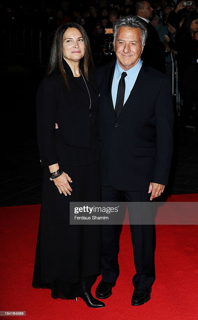 Lisa Hoffman and Dustin Hoffman attend the Premiere of 'Quartet' during the 56th BFI London Film Festival at Odeon Leicester Square on October 15, 2012 in London, England.