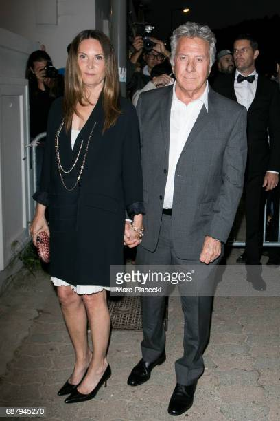 Lisa Hoffman and husband actor Dustin Hoffman are spotted during the 70th annual Cannes Film Festival at the 'Vanity Fair CHANEL' dinner at Tetou...