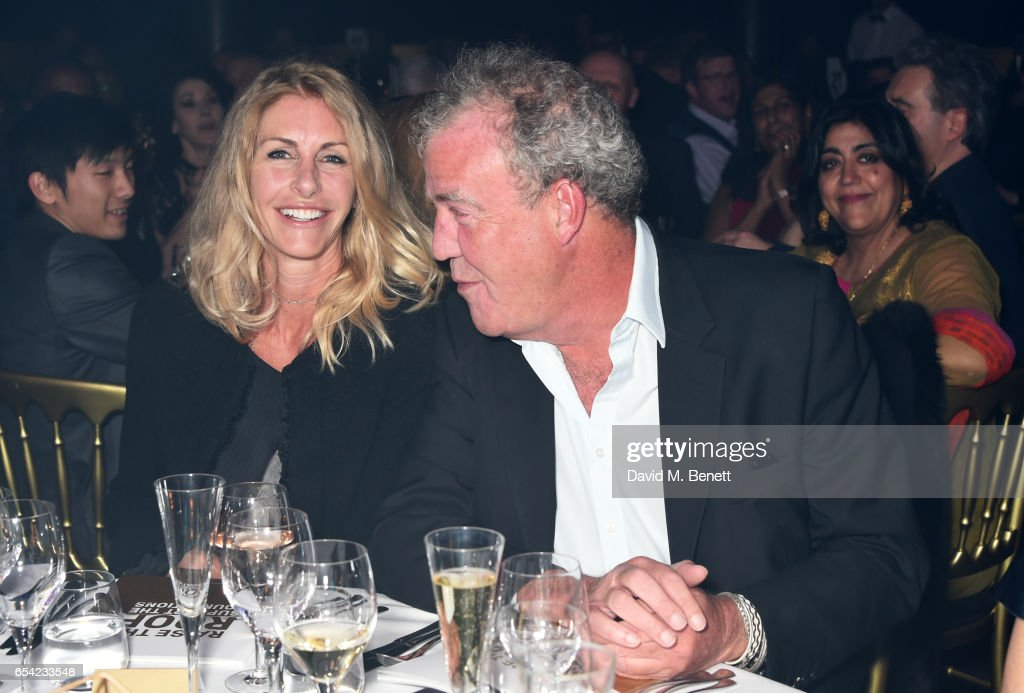 Lisa Hogan (L) and Jeremy Clarkson attend the Roundhouse Gala at The Roundhouse on March 16, 2017 in London, England.