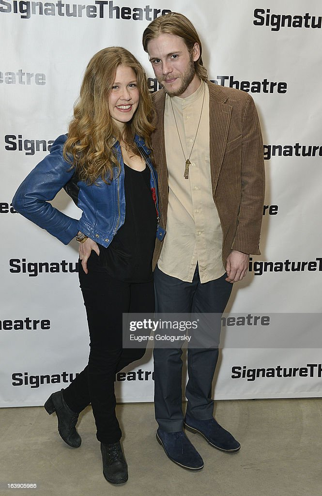 Lisa Joyce and Zachary Booth attend 'The Mound Builders' Opening Night Party at Signature Theatre Company's The Pershing Square Signature Center on March 17, 2013 in New York City.