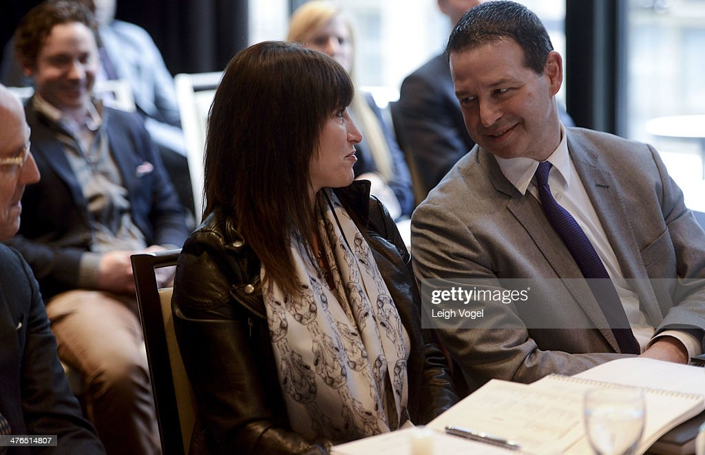 Lisa Kline and Andy Stenzler judge the 2014 EDENS Retail Challenge at Gansevoort Park Hotel on March 3, 2014 in New York City.