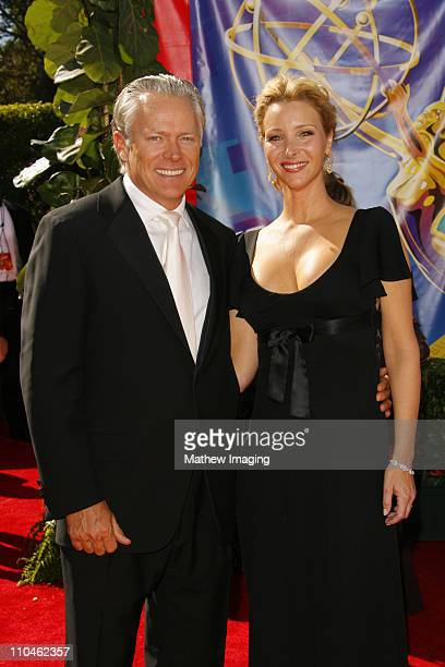 Lisa Kudrow and husband Michel Stern during 58th Annual Primetime Emmy Awards Arrivals at Shrine Auditorium in Los Angeles California United States