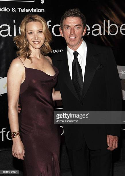 Lisa Kudrow and Michael Patrick King during 31st Annual American Women in Radio Television Gracie Allen Awards Red Carpet at Marriott Marquis in New...