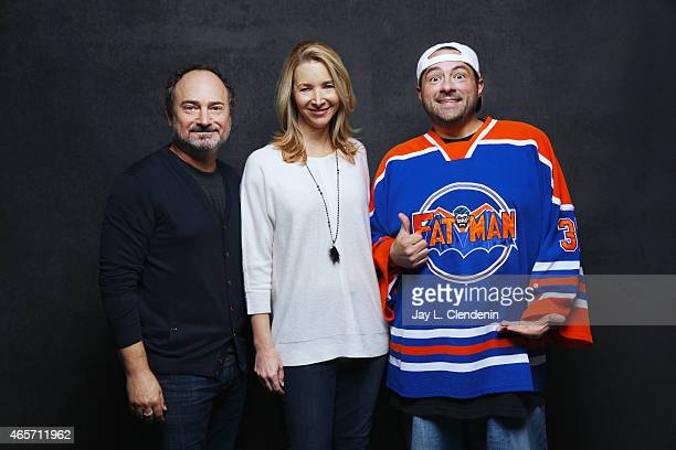 Lisa Kudrow Kevin Pollak and Kevin Smith from the film 'Misery Loves Comedy' pose for a portrait for the Los Angeles Times at the 2015 Sundance Film...