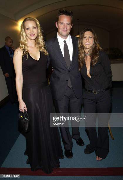 Lisa Kudrow Matthew Perry and Jennifer Aniston during The 29th Annual People's Choice Awards Backstage and Audience at Pasadena Civic Auditorium in...