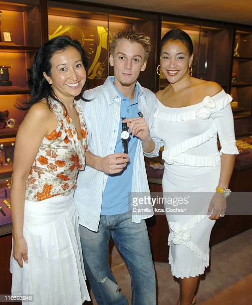 Lisa Labrado Aaron Carter and Jaci Wilson Reid during Jaci Wilson Reid and Morris Reid Host a Shopping Experience at Asprey to Benefit VH1 Save The...