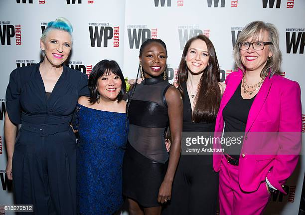 Lisa Lampanelli Ann Harada Zainab Jah Jessica Luck and Lisa McNulty attend 'Stuffed' opening night at The Friars Club on October 7 2016 in New York...