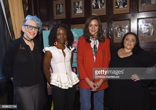 Lisa Lampanelli Marsha Blake Eden Malyn and Nikki Blonsky attend 'Stuffed' Preview Show at The Friars Club on August 24 2017 in New York City