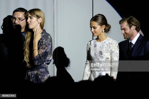 Lisa Langseth Alicia Vikander and Mark Stanley go on stage the 'Euphoria' premiere during the 13th Zurich Film Festival on September 29 2017 in...