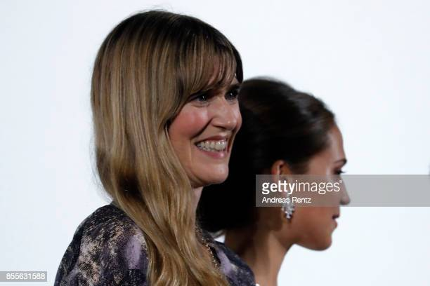 Lisa Langseth and Alicia Vikander are seen on stage at the 'Euphoria' premiere during the 13th Zurich Film Festival on September 29 2017 in Zurich...
