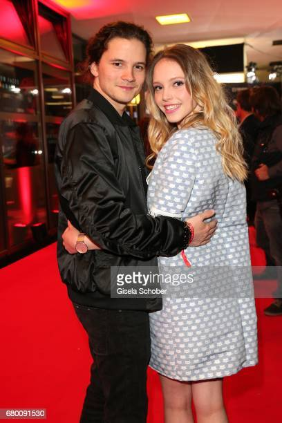 Lisa Larissa Strahl and her boyfriend Tilman Poerzgen during the New Faces Award Film at Haus Ungarn on April 27 2017 in Berlin Germany