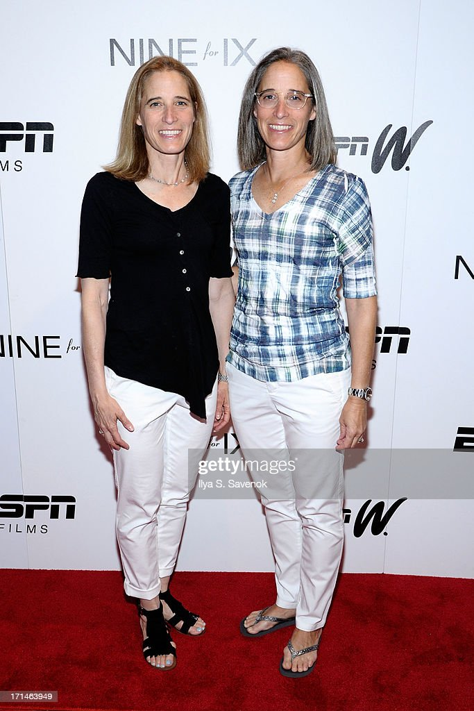Lisa Lax (L) and Nancy Stern Winters attend 'Venus Vs.' and 'Coach' New York Special Screenings at Paley Center For Media on June 24, 2013 in New York City.