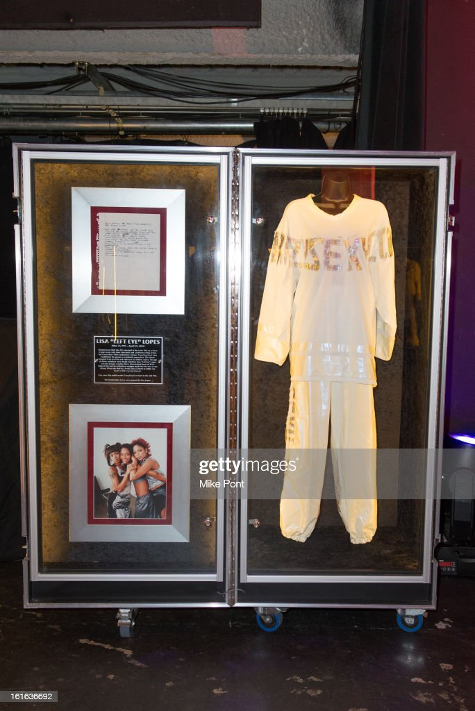 Lisa 'Left Eye' Lopes outfit on display at Hard Rock's 'Gone Too Soon' and 'Music Gives Back' Media Preview Day at Hard Rock Cafe New York on February 13, 2013 in New York City.