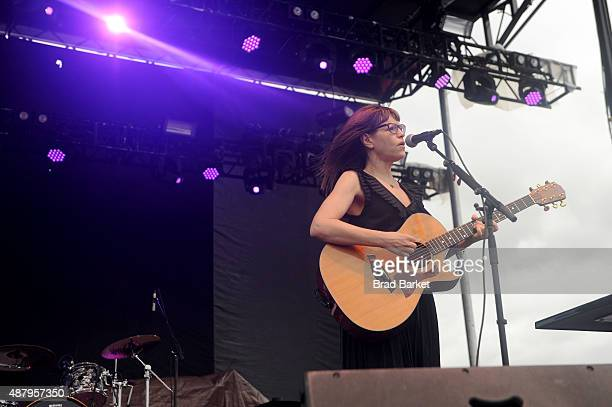 Lisa Leob performs at 90sFEST Pop Culture and Music Festival on September 12 2015 in Brooklyn New York