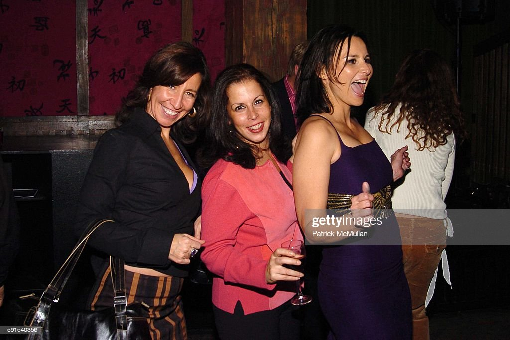 Lisa Leone Liza Pace and Francesca Silvestri attend GLAMOUR 'Reel Moments' Premiere Afterparty at Hiro on December 8 2005 in New York City