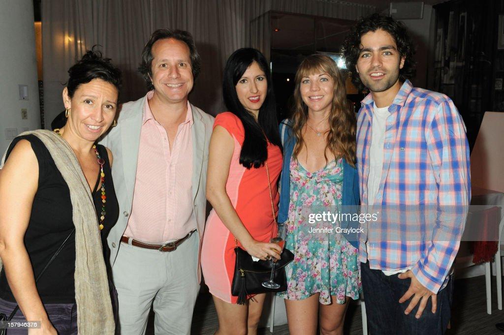 Lisa Leone, Paul Lehr, Severiano, Megan Harmon and actor Adrian Grenier attend the Haute Living Hublot And Ferrari Honor Domingo Zapata For Art Basel 2012 on December 7, 2012 in Miami, United States.