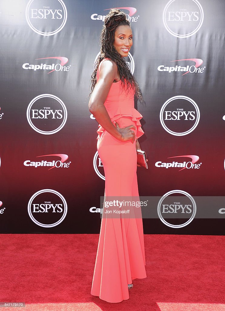 Lisa Leslie arrives at The 2016 ESPYS at Microsoft Theater on July 13, 2016 in Los Angeles, California.