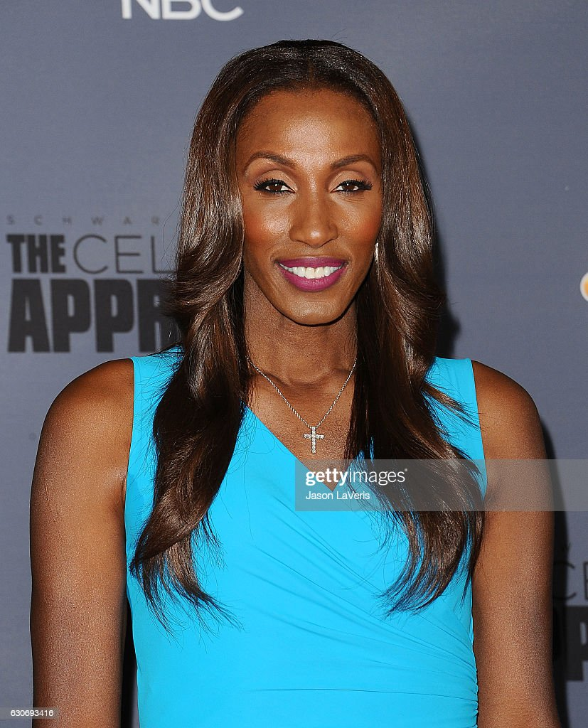 Lisa Leslie attends the press junket For NBC's 'Celebrity Apprentice' at The Fairmont Miramar Hotel & Bungalows on January 28, 2016 in Santa Monica, California.
