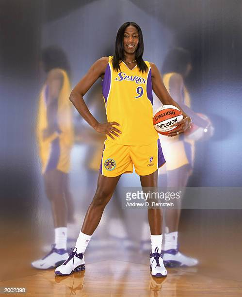 Lisa Leslie of the Los Angeles Sparks poses for a portrait on WNBA Media Day on May 2 2003 in Los Angeles California PHOTO ILLUSTRATION NOTE TO USER...