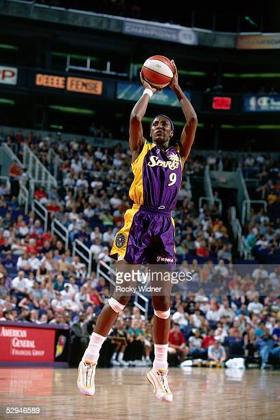 Lisa Leslie of the Los Angeles Sparks shoots a jumpshot during a WNBA game circa 2000 NOTE TO USER User expressly acknowledges and agrees that by...